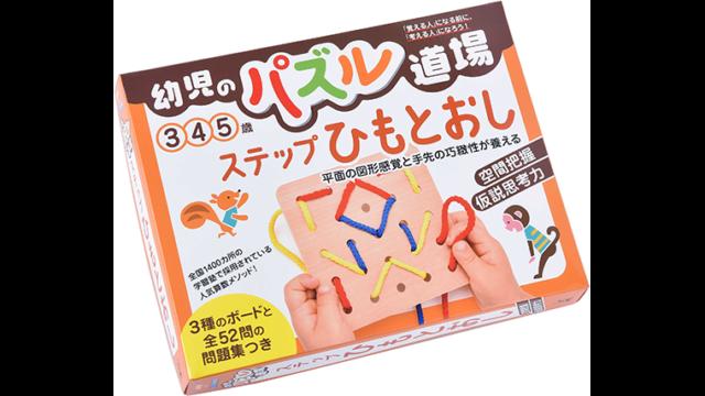 幼児のパズル道場 ステップひもとおし